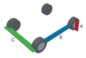 Model Car Stand Measurement Diagram